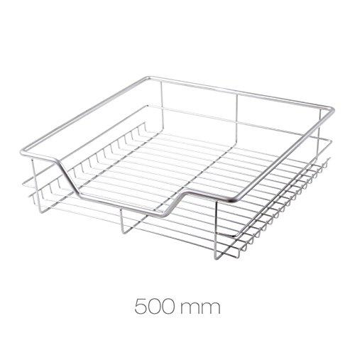 Dihl Mülleimer mit bsk-drw500500mm Ziehen Drahtkorb Schublade für Küche Schränke Schränke–Chrom (Ziehen Draht-korb)