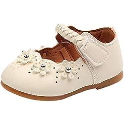 ❤️ Zapatos Bebe niña Primeros Pasos,La Flor de los niños tejió la Parte Inferior Suave Zapatos pequeños Guisantes Zapatos Solos Zapatos Casuales Absolute