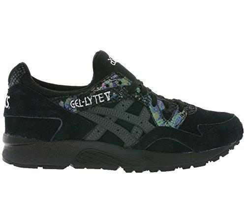 Asics, Donna, Gel Lyte V Nere, Suede / Pelle, Sneakers, Nero Multicolor