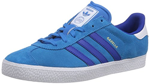 adidas Gazelle 2, Jungen Sneakers, Blau (Solar Blue2 S14/Collegiate Royal/Ftwr White), 39 1/3 EU (6 Kinder UK)