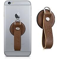 kalibri Supporto per Smartphone/Tablet in marrone - confortevole vera pelle cellulare supporto - compatibile ad es. con iPhone 7 Plus, Samsung Galaxy S7 etc.