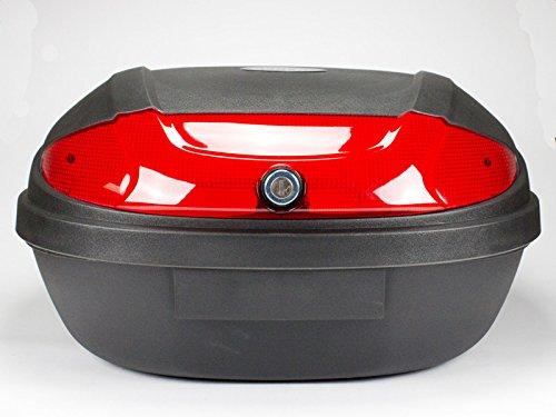 Topcase schwarz, 50 Liter, Koffer, Tasche für Motorroller und Quad