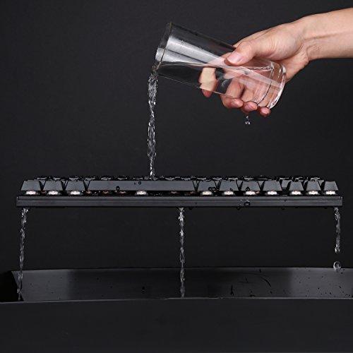 AUKEY Mechanische Tastatur Blue Switches 88-Key Anti-Ghosting ( QWERTZ Layout ) Wasserdicht Gaming Tastatur Metall Platte mit Tastenkappen-Abzieher für PC und Laptop Gamer - 4