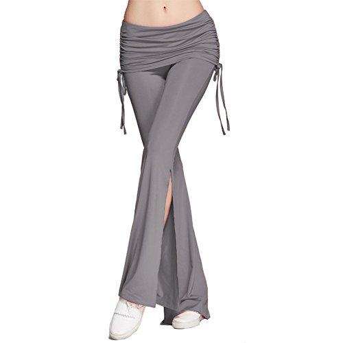 Donna Pantaloni sportivi vita alta - Hibote Donne Pantaloni fitness  elasticizzati Bootcut Pants comodi morbidi Pantaloni 6d0909ee7177