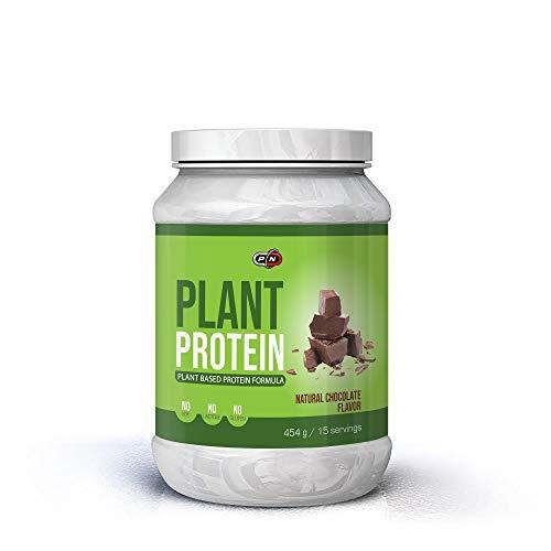 Pure Nutrition PLANT PROTEIN Pulver Eiweißpulver Blend Vegan 6 Pflanz Proteine Erbse Reis Kürbis Sonnenblume Hanf Carob 15 30 60 Portionen Natural Stevia No Soy Gluten Lactose Deutsche Qualität