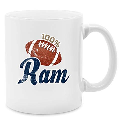 Tasse Hobby - 100% Ram - Unisize - Weiß - Q9061 - Kaffee-Tasse inkl. Geschenk-Verpackung Rams Sb