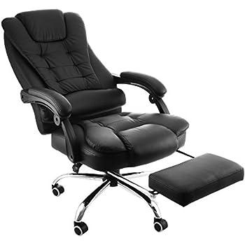 Happybuy poltrona sedia ufficio cuoio schienale alto - Poggiapiedi da ufficio ...