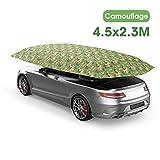 Tenda da auto portatile Tenda da auto, Tenda da auto Telo da tetto Telo isolante da auto Tettuccio parasole Telone impermeabile Antipioggia Protezione UV da neve (450 × 230 cm)
