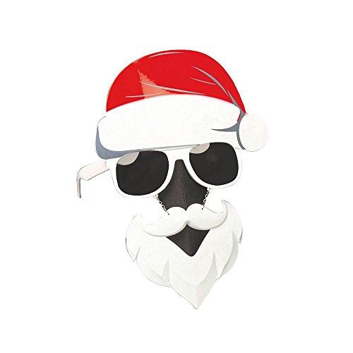 (christmasshop Fun & Festive Neuheit Weihnachtsgläser - Rentier oder Santa - Santa Big Hat)