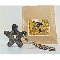 Schlüsselanhänger Bike Star Fahrrad Geschenk Stern Radsportgeschenk Radsport Rennrad Mountainbike BMX Anhänger Accessoire Upcycling Geschenkidee