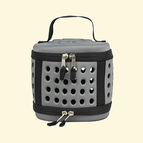 ORPERSIST Haustier-Paket-Tragbares Breathable Loch EVA-Minipet-Paket Zusammenklappbarer Hamster-Meerschweinchen-Reise-Taschen-Rosa/Grau,Gray (Meerschweinchen Beißen)