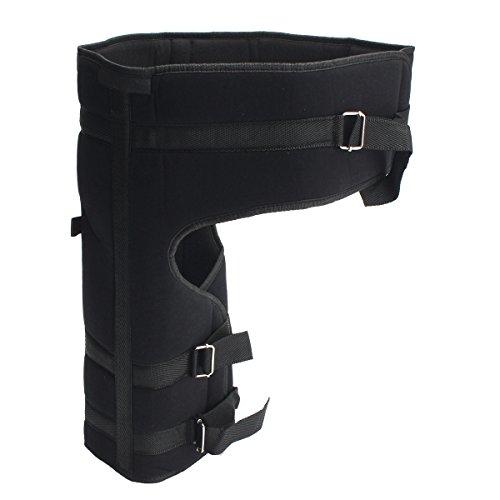 Wrap Hip épi (maritime) Joint support, Essort, Stabilisateur pour le support réglable pour sacrum Fracture d'arthrite, cuisse, au niveau de la cuisse, et Nerf sciatique Soulagement de la douleur, et de restauration, homme et femme, Noir , grand