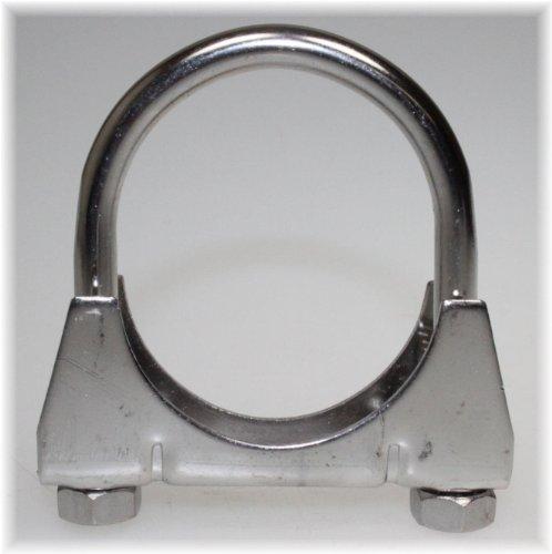 Schalldämpfer Schelle (Auspuff Edelstahl V2A Bügel Schelle U-Bolt Clamp M8x 60 mm)