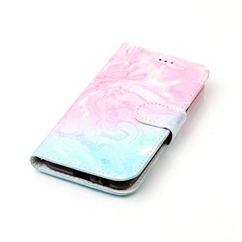 Für Samsung Galaxy A5 2017 Horizontale Flip Case Cover Luxus Blume / Marmor Textur Premium PU Leder Brieftasche Fall mit Magnetverschluss & Halter & Card Cash Slots ( Color : B ) G