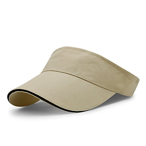 LiGG LiGG Unisex Visor Cap Sonnenhut Einstellbar Sommerhut mit Klettverschluss für Damen und Herren