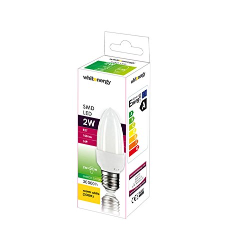 Whitenergy 1.8W E27 1.8W E27 Blanco cálido - Lámpara LED (Blanco cálido, Color blanco)