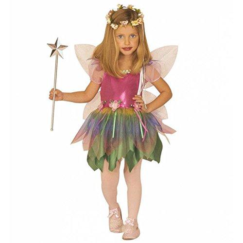 Regenbogen-Fee Kostüm für Mädchen 110-116 (3-5 Jahre) ()