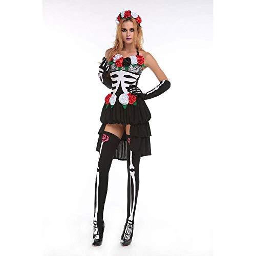 Fashion-Cos1 Zombie Cosplay Red Ghost Braut Kostüme Hexe Prinzessin Mesh Kleid Und Kopf Tragen Set Halloween Vampire Demon Kostüme Für - Prinzessin Braut Kleid Kostüm Red