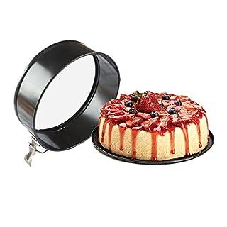 TQP-CK printemps forme moules à gâteau rond en acier carbone, Acier anthracite, 5 inch