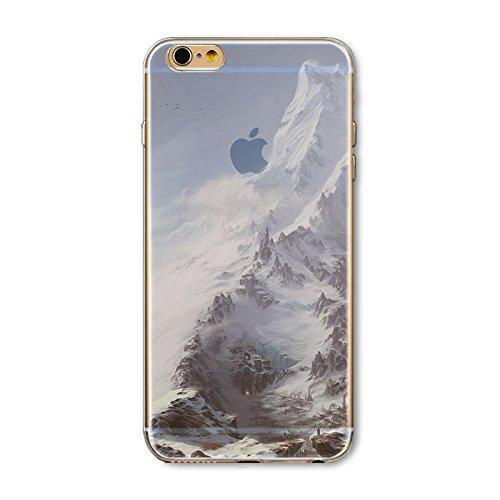 Coque iPhone 6 Plus 6s Plus Housse étui-Case Transparent Liquid Crystal en TPU Silicone Clair,Protection Ultra Mince Premium,Coque Prime pour iPhone 6 Plus 6s Plus-Paysage-style 18 13