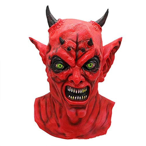 LXIANGP Halloween Party Ball Grimasse Maske Cos Red Devil Spukhaus Zombie Kopfbedeckungen Latex ()