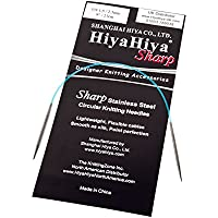 HiyaHiya Sharp - Agujas de tejer circulares (acero inoxidable, 23 cm), plata, 2,50 mm
