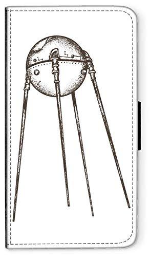 blitzversand Flip Case Sputnik Laika Russland kompatibel für Samsung Galaxy Note 7 Sputnik Trabant Handy Hülle Leder Tasche Klapphülle Brieftasche Etui rund um Schutz Wallet M5