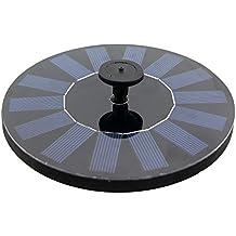 Anself Bomba de agua de panel solar monocristalino sin cepillo de ahorro de energía de eatanque de jardín para las plantas pájaros de baño al aire libre
