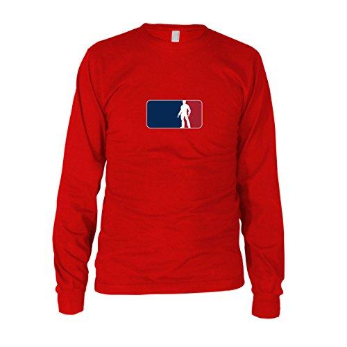 Logan League - Herren Langarm T-Shirt, Größe: L, Farbe: rot