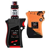 Authentique SMOK MAG 225W KIT (Noir/Rouge) TC Mod Version Gaucher Avec TFV12 Prince Tank Édition de l'UE + Mag Silicone Coque de Protection Cigarette Electronique Kit Complet Sans Tabac Ni Nicotine