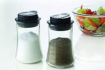 Raincart Borosil Glass Salt and Pepper Container Set, 160ml, Set of 2, Transparent