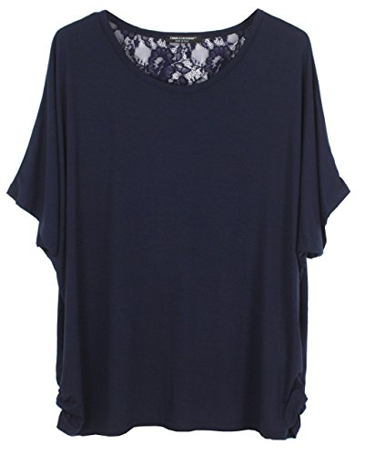 Emma & Giovanni T-Shirt/Blouse Short Sleeve With Lace Back - Women