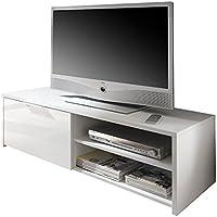 Lc Spa 209025-01 - Porta-TV Sorrento, 122 x 38 x 42 cm, colore: bianco lucido - Trova i prezzi più bassi su tvhomecinemaprezzi.eu