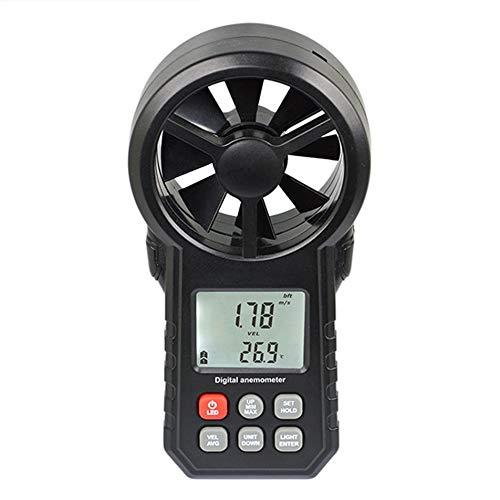 Silverdrew Anemómetro Digital Termómetro Medidor de Humedad Medidor de Velocidad de Viento portátil...