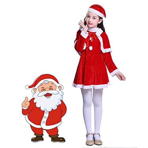 Santa Anzug Weihnachten Kostüme Weich Kinder Weihnachtsmann Zum Party Cosplay,M-Age7-9years ()