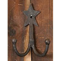 Wrought Iron Star Double Coat Hook by Your Heart