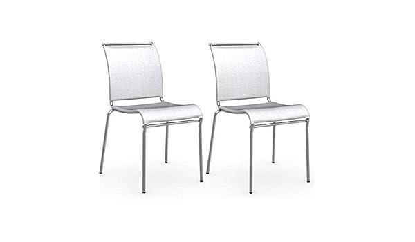 chaises 2 de Lot INSIDE AIR Structure chromé Italienne Acier qMUGVSzp