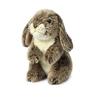 Anna Club Plush - Peluche de Conejo Gris de pie, 18 cm
