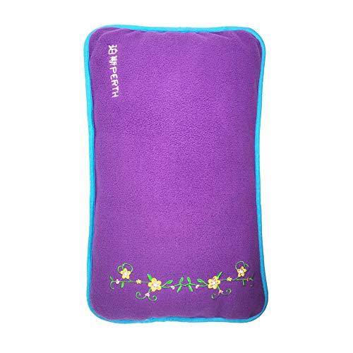 Wärmflasche, Wärmflasche Mit Abdeckung 3L Große Kapazität Super Soft Flanellabdeckung Sicherheit Zertifizierung Wärmebehandlung Schmerzlinderung Abnehmbare Reinigung