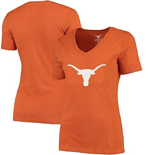 Profile Varsity University of Texas Damen-T-Shirt mit V-Ausschnitt, Damen, Orange, Plus 2X University Of Texas-jersey