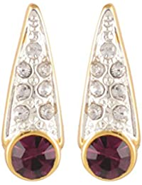Estelle Gold Plated Stud Earring Set|Earing In Bright Colour A.D Stone Ladies Women Tops Jewelry|Simple Small/...