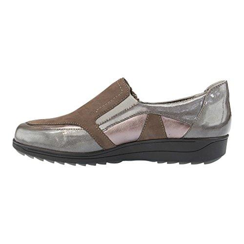 ARA - Meran - Damen Slipper - Grau Schuhe in H Weite Grau