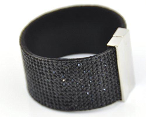 -ampio-strass-bracciale-chiusura-magnetica-nero-black