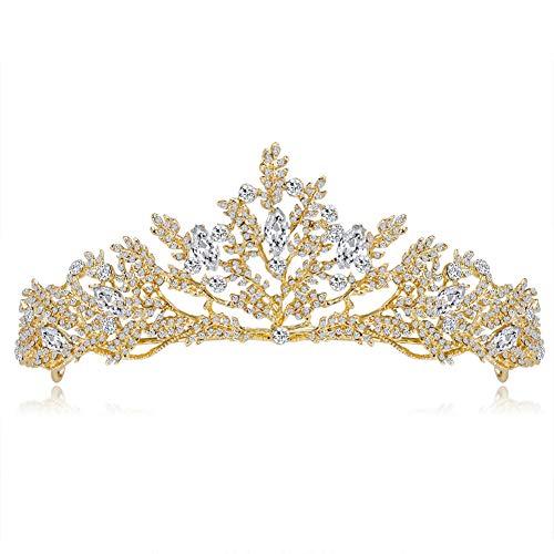 (Dastrues Vintage Braut Crown Frauen Kopfschmuck scheint Prom Hochzeit Kronen Haarschmuck)