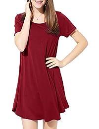 d1821033f806 BELAROI Vestiti Estivi Donna Vestito Abito Linea ad A Estivi Ragazza  Vestitini Plus Size