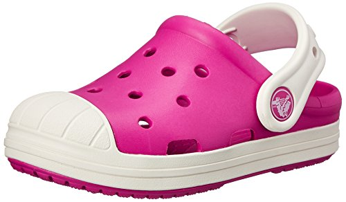 Crocs Bump it Unisex-Kinder Clogs,Candy Pink/Oyster - Pink30-31 EU ( 13 Child UK )