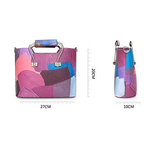 Europa Und Die Vereinigten Staaten Handtasche Schräge Tasche Handtaschen Große Stitch Mode Damen Tasche Blue