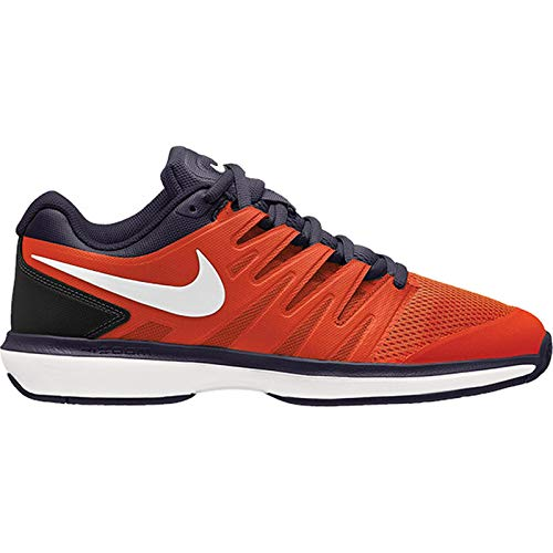 Nike Men's Air Zoom Prestige Tennis Shoes (7, Bright Crimson/White/Blackened Blue)