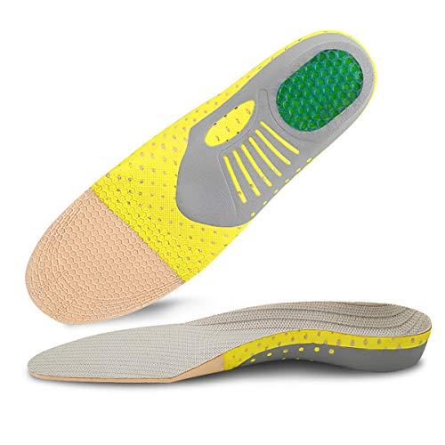 Kimfly Orthopädische Einlegesohlen für Herren und Damen, Fußgewölbeunterstützung Plantareinlagen für Plattfüße, Fußgewölbe, Pronation, Fersensporn und Fußschmerzen