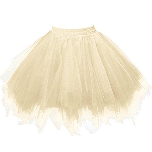 en Tüllrock Mädchen Ballet Tutu Rock Kinder Petticoat Unterrock Ballett Kostüm Tüll Röcke Festliche Tütüs Erwachsene Pettiskirt Ballerina Petticoat Für Dirndl (Gelb) (Gelb Tutu Für Erwachsene)